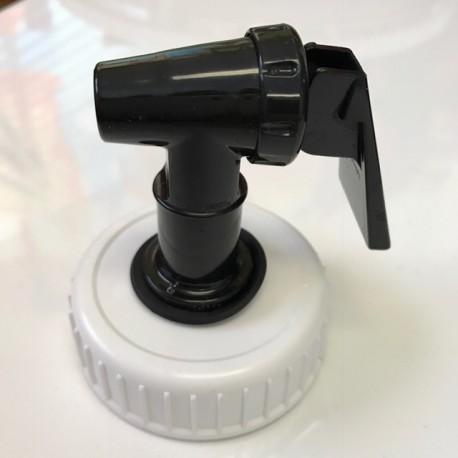 Screw cap with faucet