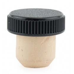 Cork with black cap