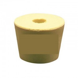 Rubber cork No.6.5 with hole