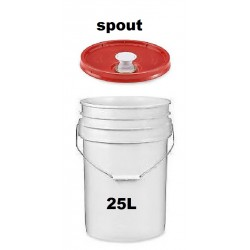 Pail 25L with spout cover